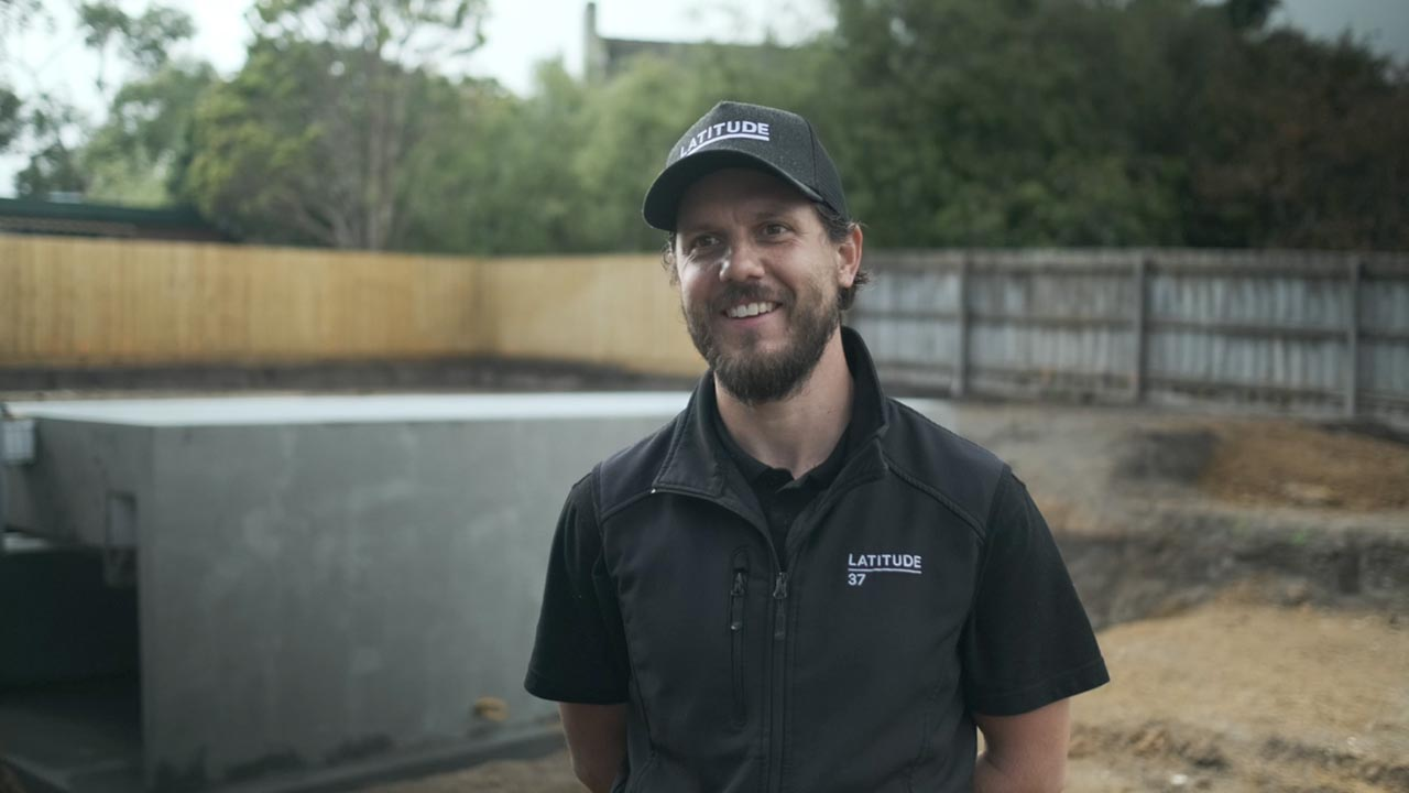 Custom home builder Latitude 37's site manager Andrew talks about installing a Plungie