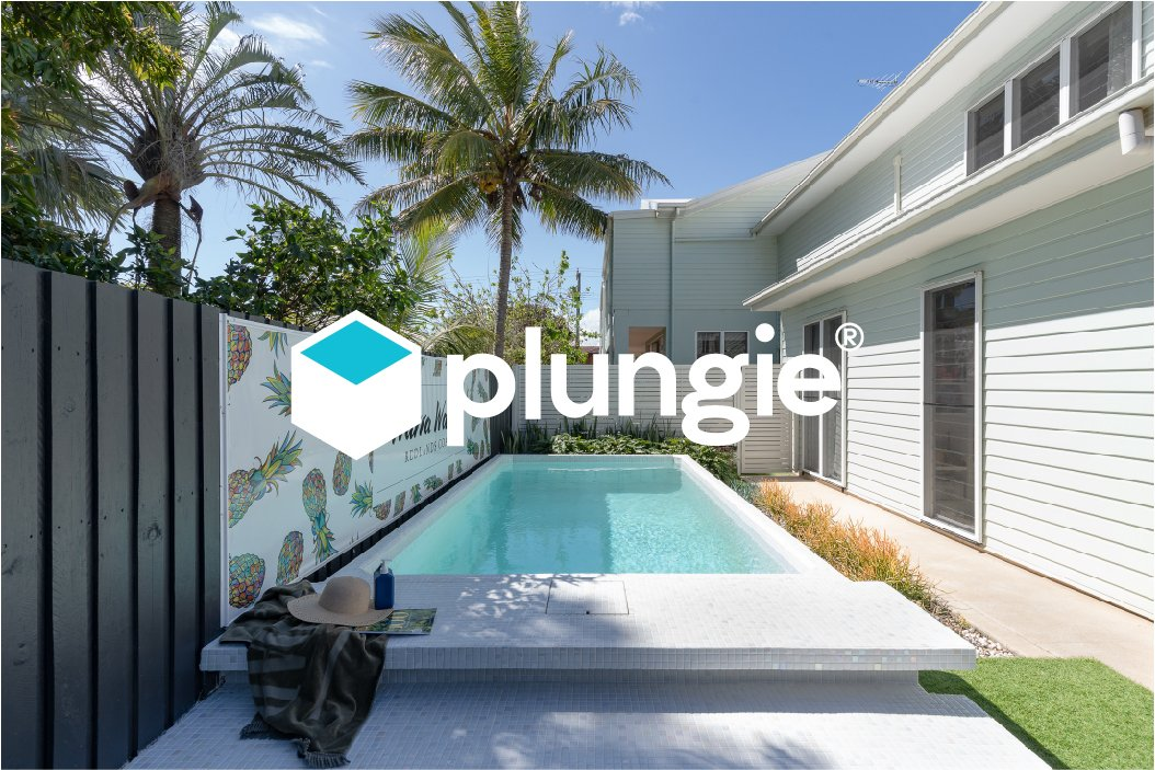 Plungie Original pool with new Plungie logo overlayed