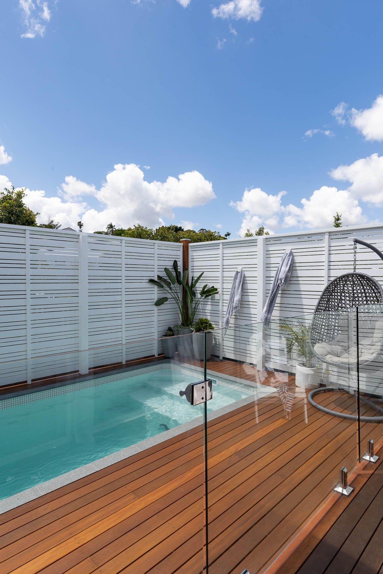 Plungie Studio 3.6m x 2.2m concrete plunge pool in Kona Coast