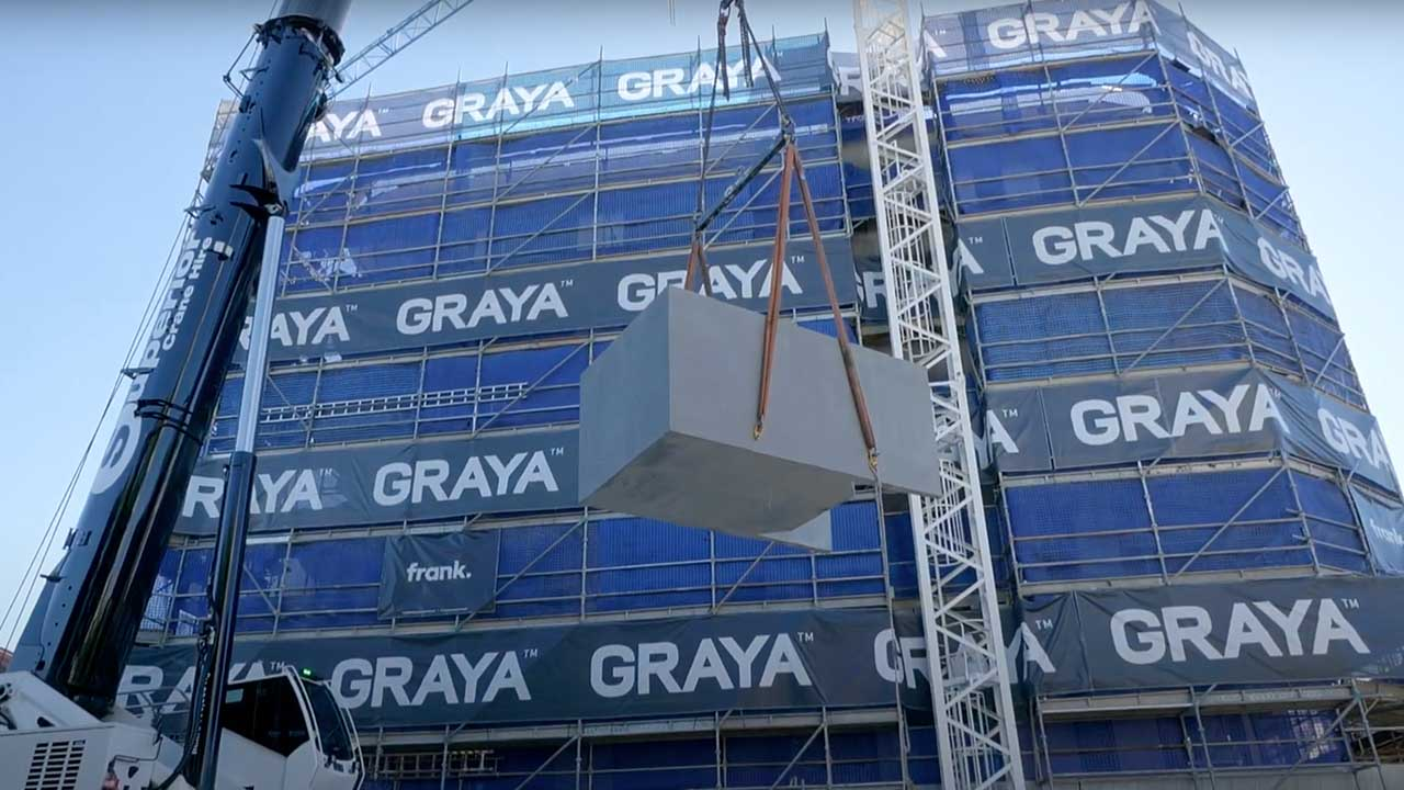 GRAYA install rooftop Plungie studio